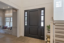 Glenview-Coastal - DB 301PW 2SL Front Door, Interior Library View - Globex Developments Custom Homes
