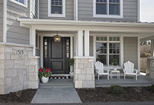 Glenview-Coastal - Entrance, DB 301PW 2SL Front Door - Globex Developments Custom Homes