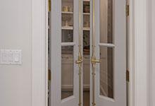 Glenview-Coastal - Pantry Door CloseUp - Globex Developments Custom Homes