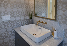 Glenview-Coastal - Powder Room Vanity - Globex Developments Custom Homes