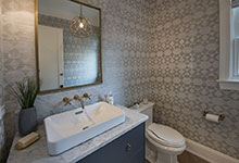 Glenview-Coastal - Powder Room - Globex Developments Custom Homes