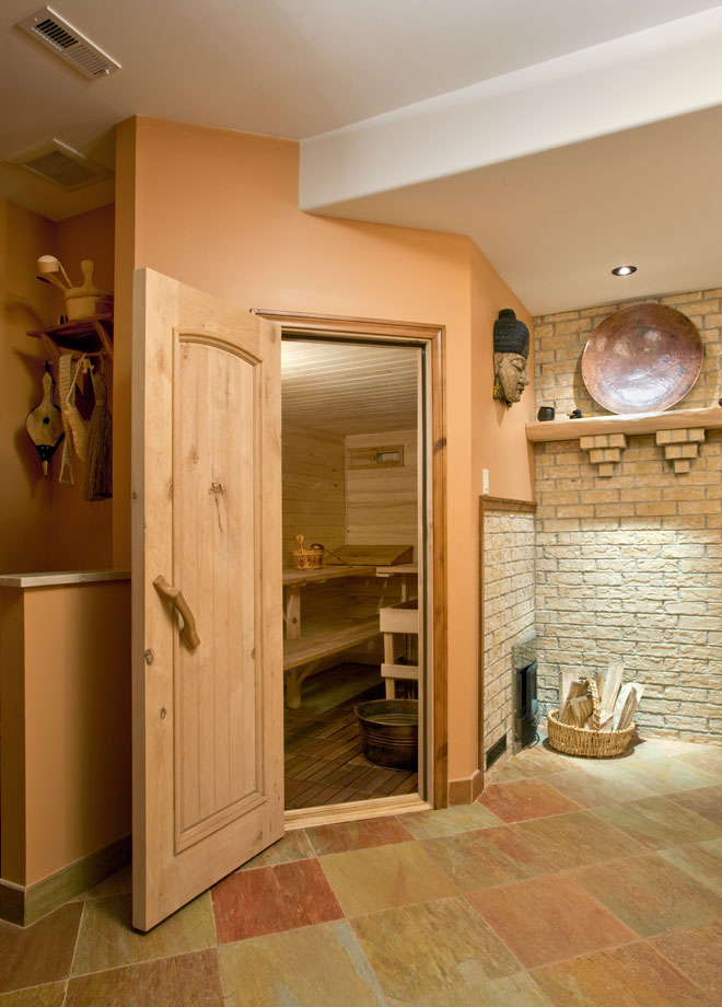 Basement sauna in woodstock ny contemporary bathroom for Building a sauna in the basement