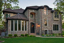 ST-House - House-SideView-Evening - Globex Developments Custom Homes