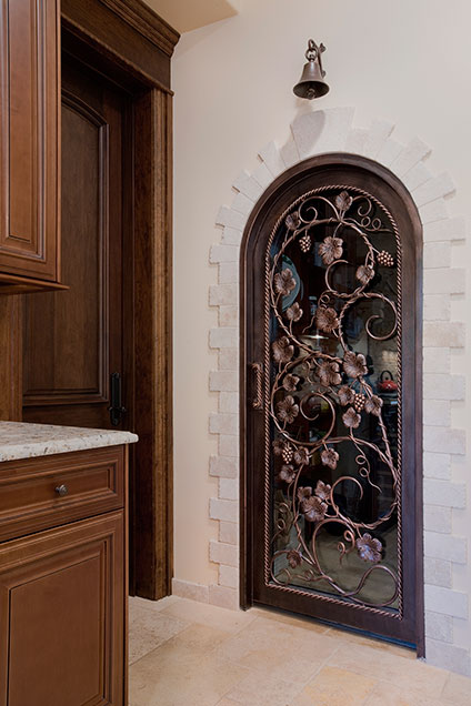 ST-House - Kitchen-WineCellarDoor - Globex Developments Custom Homes