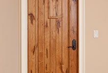 ST-House - Knotty Alder Door - Globex Developments Custom Homes