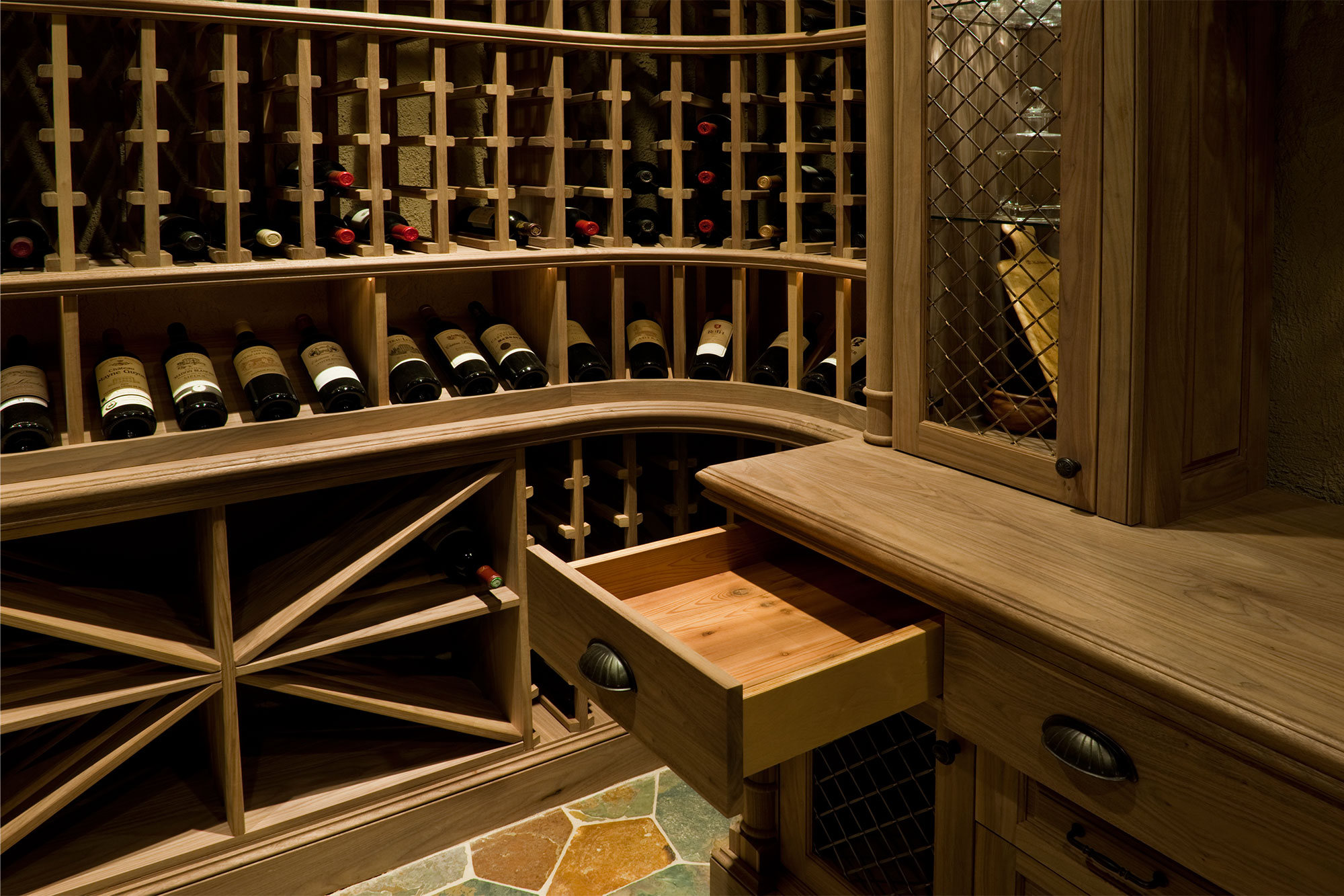 wine room furniture. Elegant Cedar Finishing Inside Furniture-grade, Wine Cellar Drawers \u2022 WC2-06 Room Furniture O