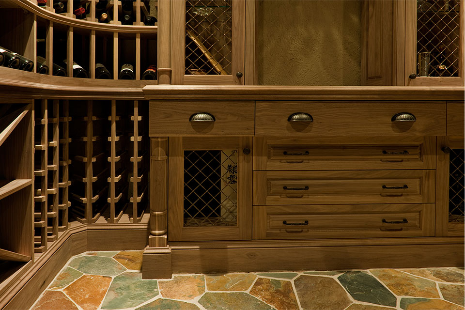 ST-WineCellar - WineCellar-Counter - Globex Developments Custom Homes