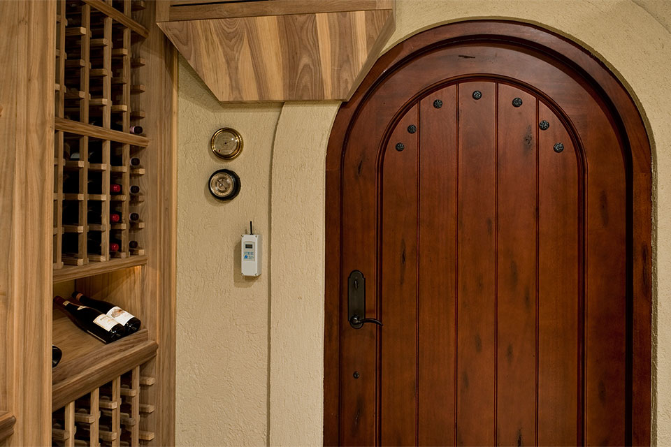 ST-WineCellar - WineCellar-Door-Inside - Globex Developments Custom Homes