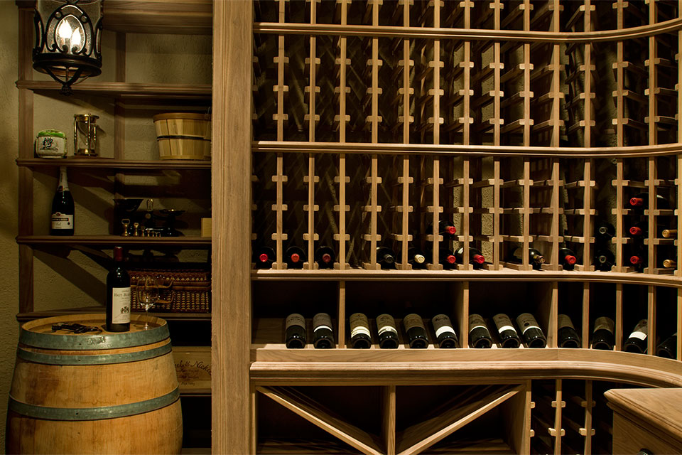ST-WineCellar - WineCellar-Racks-Barrel - Globex Developments Custom Homes