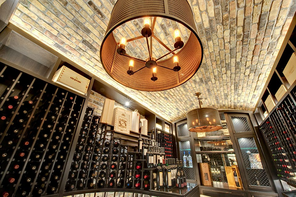 Wine-Cellar-1111-Wagner-Glenview - Main-Cellar-Ceiling - Globex Developments Custom Homes