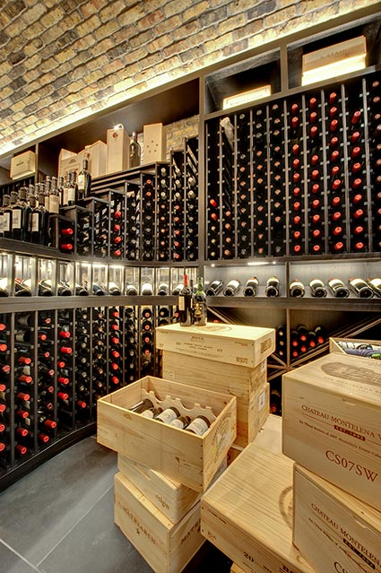 Wine-Cellar-1111-Wagner-Glenview - Main-Cellar-Detail - Globex Developments Custom Homes