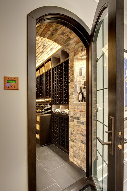 Wine-Cellar-1111-Wagner-Glenview - Main-Cellar-Entrance - Globex Developments Custom Homes