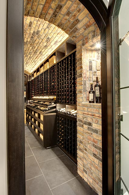 Wine-Cellar-1111-Wagner-Glenview - Main-Cellar-Entryway - Globex Developments Custom Homes