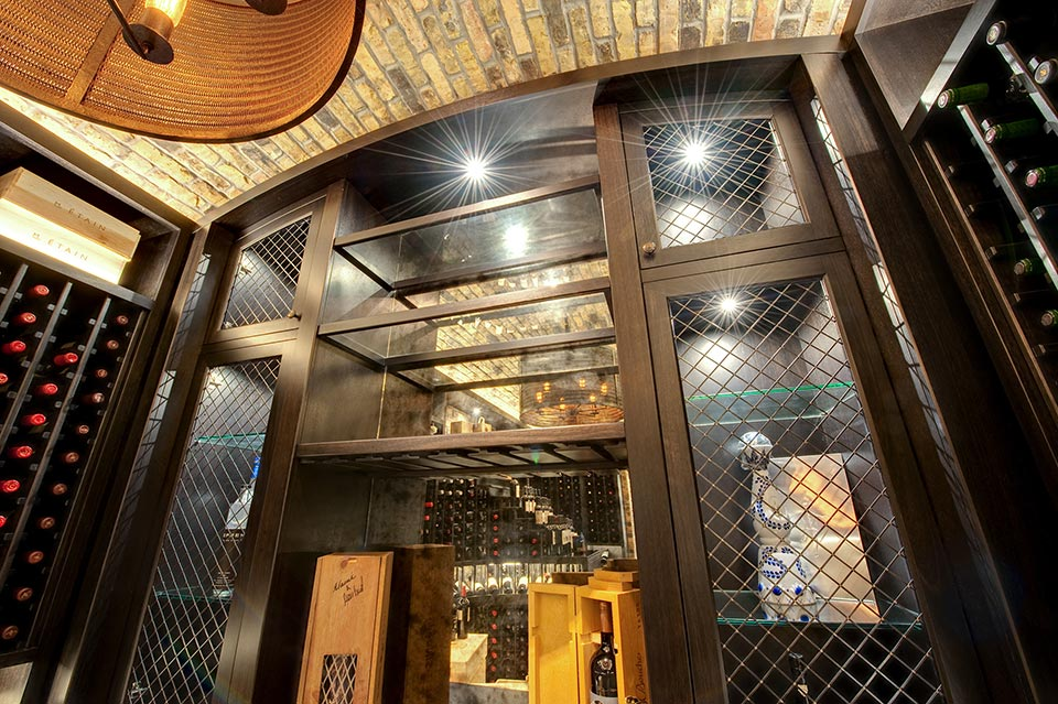 Wine-Cellar-1111-Wagner-Glenview - Main-Cellar-Shelf - Globex Developments Custom Homes