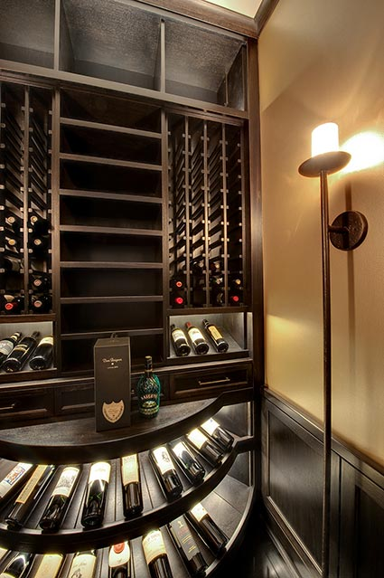 Wine-Cellar-1111-Wagner-Glenview - Upstairs-Cellar-Angle - Globex Developments Custom Homes
