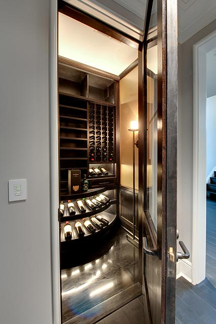Wine-Cellar-1111-Wagner-Glenview - Upstairs-Cellar-Entry - Globex Developments Custom Homes