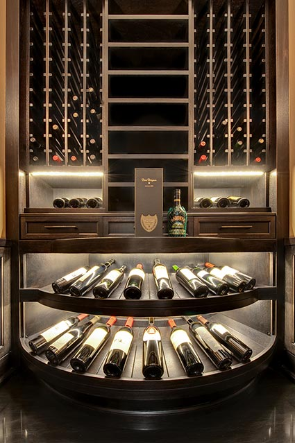 Wine-Cellar-1111-Wagner-Glenview - Upstairs-Cellar-Racks - Globex Developments Custom Homes